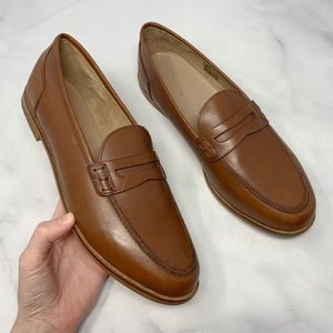 NEW J. Crew 100% Leather Penny Loafer Flats Boho